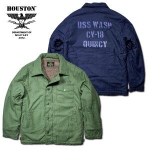 2018A/W『HOUSTON/ヒューストン』50756PRINTA-2DECKJACKET/プリントA-2デッキジャケット-全2色-/バックサテン/コットン/ボア/襟/リブ/USN/アジャスター/シービーズ/SEABEES/アメリカ海軍/USN/ユニオンネットストア[50756]