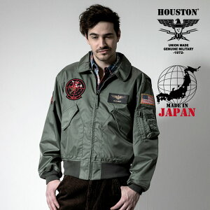 2019A/W『HOUSTON/ヒューストン』50995CWU-36PCUSTOM/CWU-36Pカスタム-全1色-/ビンテージ/ヴィンテージ/ナイロンセージ/ミリタリー/MILITARY/ワッペン/MADEINJAPAN/日本製/ユニオンネットストア[50995]