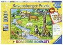 ラベンスバーガー(Ravensburger) 牧場の動物たち(ぬりえ付き)(100ピース) 13696 4[un]