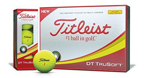 TITLEIST(タイトリスト) ゴルフボール 2018 DT TRUSOFT 2ピース 12個入り イエロー T6133S-J[cb]