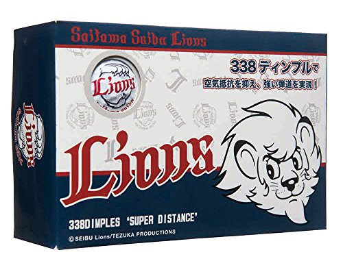 LEZAX(レザックス) ゴルフボール 埼玉西武ライオンズ ゴルフボール 6個入り SLBA-7757 ホワイト[cb]