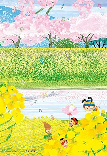 300ピース ジグソーパズル みなしごハッチ はりたつお 桜と菜花の二重奏 (26x38cm)[cb]画像