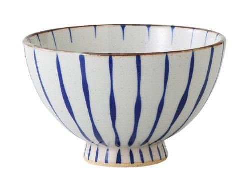 西海陶器 青十草 軽量飯碗(大) 73041