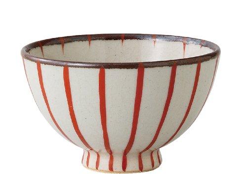西海陶器 赤十草 軽量飯碗(小) 73043