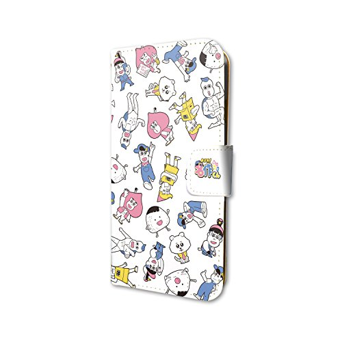 あはれ!名作くん 01 ちりばめデザイン 手帳型スマホケース iPhone6/6S/7/8兼用画像
