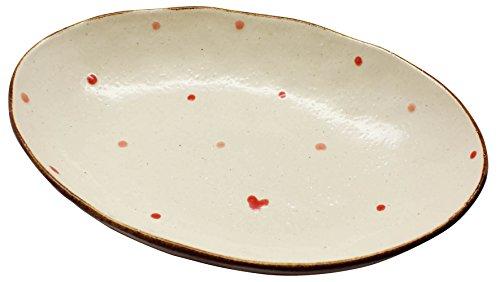 ドロップハート カレー皿 レッド 24535