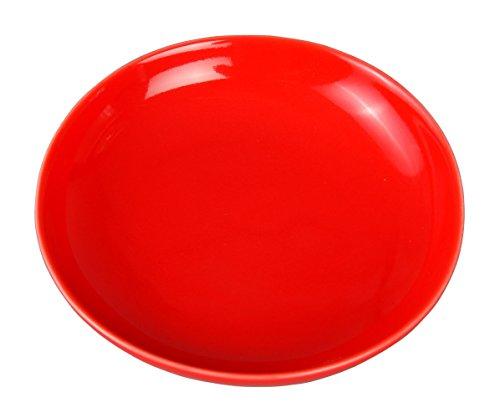 金照堂 丸小皿 レッド 3枚セット 12-0154