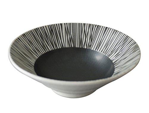 クシ墨輪二重16.5cm深鉢 (イ055-085)