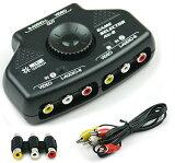 【gioiellante】 簡単切替 2ポート AV切替機 ビデオ セレクター ブラック KR-SEL002