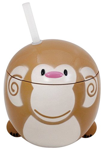 TERU-BO 子供が喜ぶコップ アニマライフ 3Dタンブラー サル AAD-M
