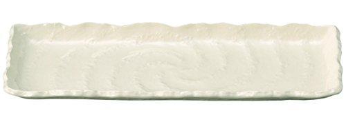 萬古焼 白い器 ておこしホワイト さんま皿 10237