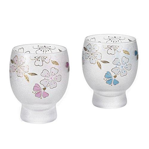 アデリア 四季めぐり 桜 酒グラスペアセット 145ml S6238