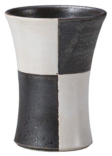 ヤマキイカイ 佳窯白黒市松焼酎カップ F1954