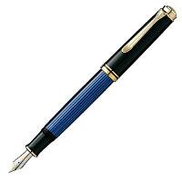 ペリカン万年筆F細字ブルー縞スーベレーンM400正規輸入品