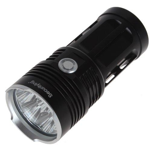 SecurityIng 4900ルーメン XM-L2 U2-1A LED 強力な懐中電灯 3モード スーパーブライト耐水 防水 18650充電式電池対応 (ブラック)