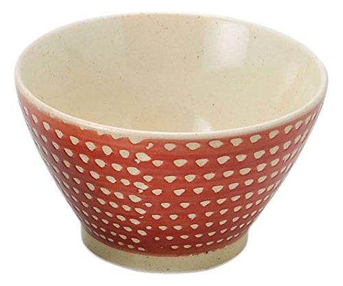 奥川陶器 カラーカンナ レトロ碗(赤) 208898