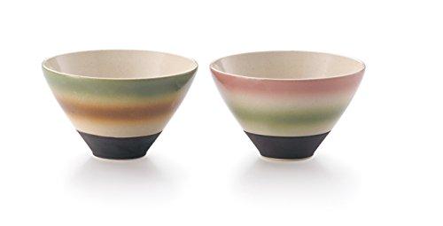 山下清(桜島)×美濃焼 組飯碗 AM-YM1213