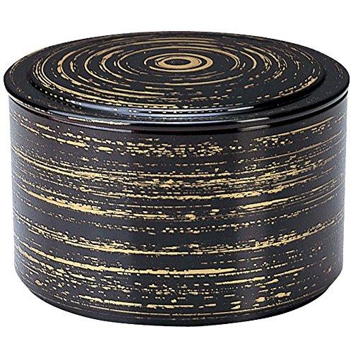 和(なごみ) 耐熱 平蓋筒飯器 黒かすり内朱 11.7cm×11.7cm F099100-27