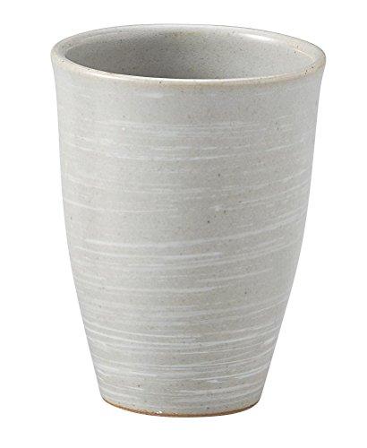 萬古焼 灰釉刷毛目 フリーカップ 大 15633