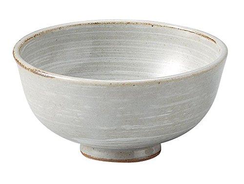 萬古焼 灰釉刷毛目 飯碗 小 15627