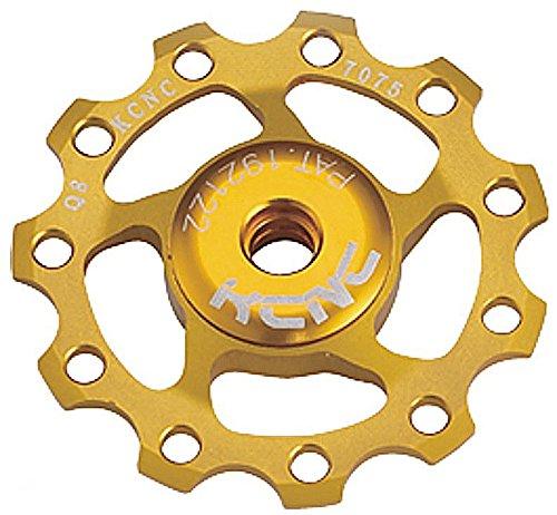 KCNC ディレーラー セラミックジョッキーホイール アルミ合金製 シマノ9速/10速 セラミックベアリング仕様 ゴールド 13T 304223