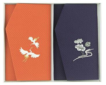 金封ふくさセット かのこ織 刺繍入