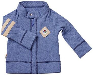 yuga☆ライダース・ジャケット ブルー 90cm オーガニックコットン100% ベビー 服 子ども服 キッズ 男の子 boy トップス 上着 羽織りもの ジップアップ ショートジャケット 出産祝い プレゼント 綿100%