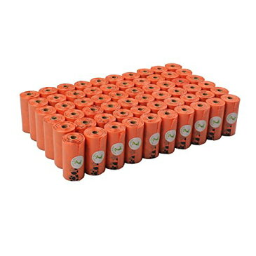 ペット エヌ ペット(PET N PET) うんち袋 ディスペンサー付 エチケットパック ペット 犬・猫適用 うんち取り オレンジ 50ロール 33×23cm (1080枚入り)