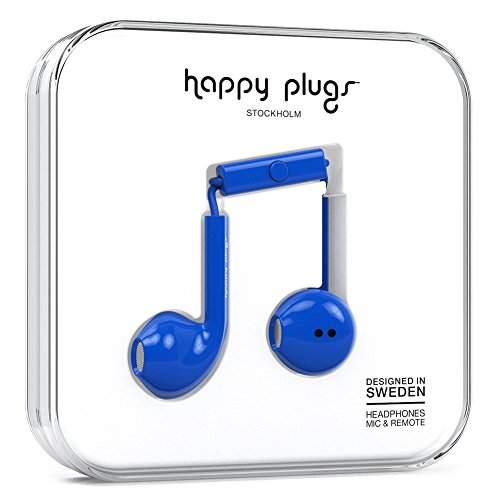 happy plugs EARBUD PLUS インナーイヤー型イヤホン リモコン・マイク付 iOS Android対応 コバルト   EARBUD-PLUS-COBALT7813