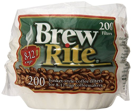 Brew Rite [ブリューライト] 12カップ用 バスケットタイプ コーヒーフィルター 200枚入り Brew Rite Basket Coffee Filters 8-12 Cup White Paper, 200-Count Bags 【並行輸入品】画像