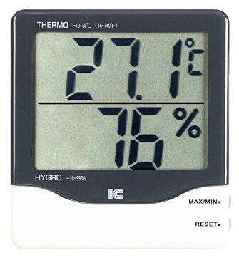 アイシー デジタル最高最低温湿度計 サーモ1021 -10~60℃