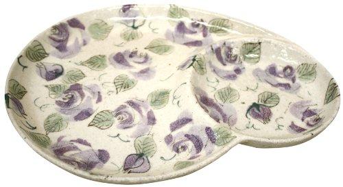 松本陶器 バラ園 仕切皿(紫・丸型) 42430