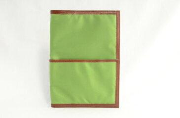 COBU 本革×ナイロンシリーズ ノートカバーA5(グリーン)