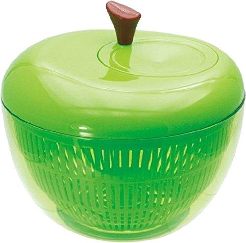 現代百貨 野菜の水切り器 アップル サラダスピナー S グリーン K333-GR