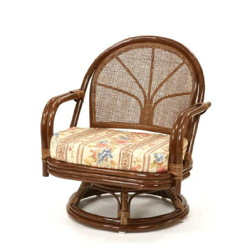 サンフラワーラタン 籐回転座椅子 ミドルタイプ ハニーブラウン C711HRJ1