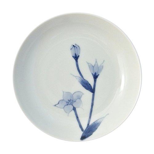 有田焼 染付桔梗3.5寸多用皿 小皿 10.5cm そうた窯 sta0244