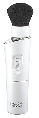 日立洗顔ブラシハダクリエホイップ&ウォッシュ濃密泡洗顔熊野筆パールホワイトWB-K801W