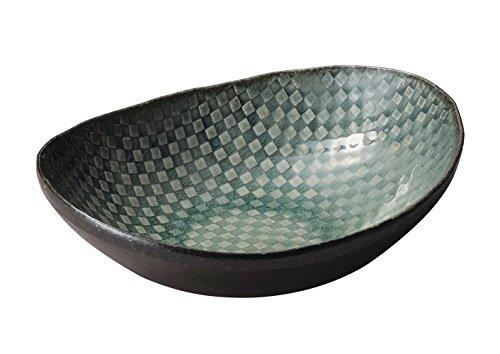 信楽焼 へちもん 楕円盛皿 モザイク 3-1546