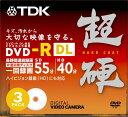 TDK 8cmDVD-R 片面2層タイプ 超硬 ジュエルケース入り 3枚パック DR55HC3A