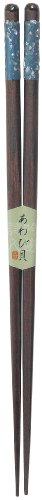 カワイ 箸 和柄 桜貝 ブルー 23cm