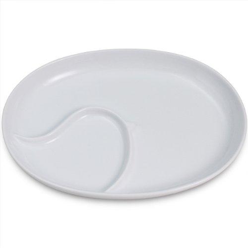 白山陶器 PiPi(ピピ) ホワイト ランチプレート(22.7×17.2cm皿)