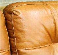 高級レザーソファ/レトロアンティーク北欧インダストリアル工業系カフェ美容室店舗ビンテージヴィンテージ西海岸男前家具サーフサーフィンブルックリン