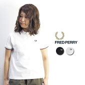 FREDPERRYフレッドペリーツインティップラインポロシャツG12ポロシャツレディース半袖白ゴルフ黒おしゃれシンプルMかわいい春春夏大人カジュアルアメカジきれいめスポーティープレゼントギフト定番英国