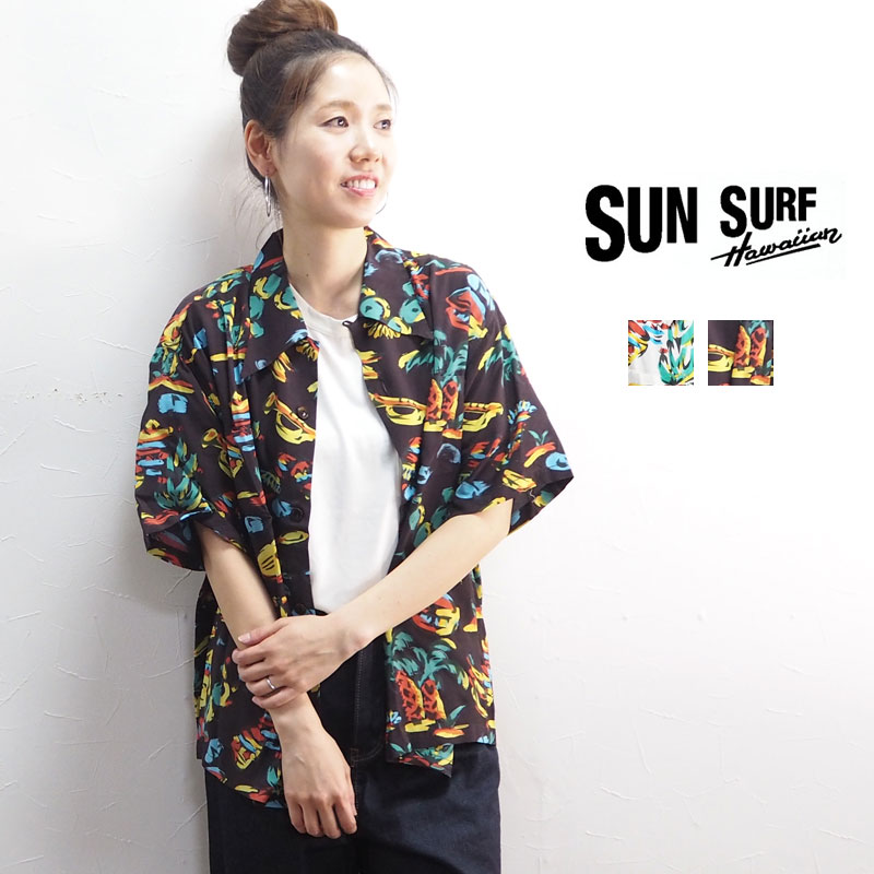 トップス, シャツ・ブラウス SUNSURF MFSCSS ROCKnROOL SC38090 MISTER FREEDOM