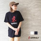 GRAMICCIグラミチTシャツ大きめゆったりLOGOTEE2012-STS半袖プリントTシャツ黒白プリントロゴビッグロゴアメカジアウトドアキャンプキャンプ女子キャンジョおしゃれユニセックスレディースメンズメール便可