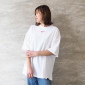 NIKEナイキロゴTシャツレディースアイコンクラッシュS/SトップDA3119TシャツロゴT半袖白ホワイトロゴワンポイント無地シンプルスポーティおしゃれママコーデゆったりゼブラ柄柄ゼブラ春春夏綿コットン