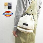 DickiesディッキーズバッグレディースBOAFREECEDRAWSTRINGBAG14506300巾着バッグ鞄カバンボア秋秋冬カジュアルシンプルおしゃれ2wayサブバッグ黒ブラックチャコールホワイトベージュメンズ