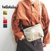 helloluluハロルルバッグレディースCanaコンパクトユーティリティバッグ5075099ショルダーバッグショルダー鞄カバンカジュアルシンプル大人おしゃれミニ旅行フェス黒ブラックカーキレッドグリーン