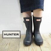 HUNTERハンターブーツレディースレインブーツWFS1000RMA長靴ショートレインブーツショートおしゃれ大人シンプルクラシック防水黒ブラックネイビーレッドグリーンチョコブラウン