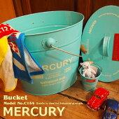 MercuryマーキュリーバケツC154SS13ZAバケツ大バケツビンテージレトロワイルドアウトドアインテリアガーデニングポップカラフル雑貨ゴミ箱小物入れアメカジアメリカン